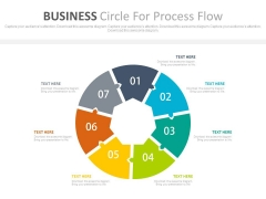 Seven Business Steps Circle Diagram Powerpoint Template