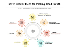 Seven Circular Steps For Tracking Brand Growth Ppt PowerPoint Presentation File Pictures PDF