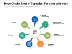 Seven Circular Steps Of Supervisor Functions With Icons Ppt PowerPoint Presentation Gallery Picture PDF