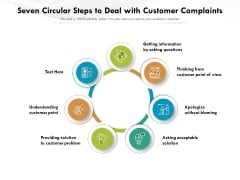 Seven Circular Steps To Deal With Customer Complaints Ppt PowerPoint Presentation File Maker PDF