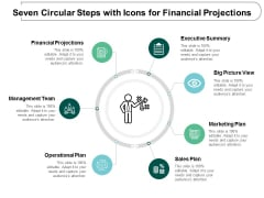 Seven Circular Steps With Icons For Financial Projections Ppt Powerpoint Presentation Portfolio Outfit
