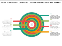 Seven Concentric Circles With Outward Pointers And Text Holders Ppt Powerpoint Presentation Outline Brochure