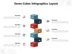 Seven Cubes Infographics Layout Ppt PowerPoint Presentation Summary Diagrams