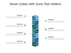 Seven Cubes With Icons Text Holders Ppt PowerPoint Presentation Infographic Template Information