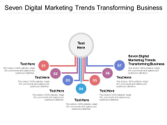 Seven Digital Marketing Trends Transforming Business Ppt PowerPoint Presentation Ideas Clipart Images Cpb Pdf