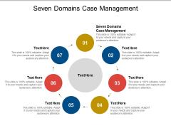 Seven Domains Case Management Ppt PowerPoint Presentation Layouts Deck Cpb Pdf