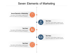 Seven Elements Of Marketing Ppt PowerPoint Presentation Outline Objects Cpb