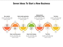 Seven Ideas To Start A New Business Ppt PowerPoint Presentation Icon Vector PDF