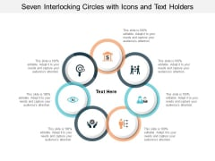 Seven Interlocking Circles With Icons And Text Holders Ppt PowerPoint Presentation Gallery Show