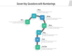Seven Key Questions With Numberings Ppt PowerPoint Presentation Ideas Elements PDF