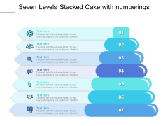 Seven Levels Stacked Cake With Numberings Ppt PowerPoint Presentation Ideas Gallery PDF