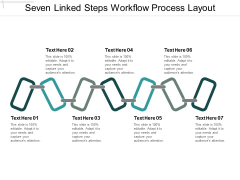 Seven Linked Steps Workflow Process Layout Ppt PowerPoint Presentation Summary Aids