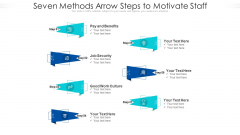 Seven Methods Arrow Steps To Motivate Staff Ppt PowerPoint Presentation Gallery Background Images PDF