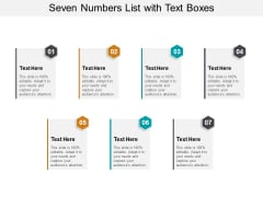 Seven Numbers List With Text Boxes Ppt PowerPoint Presentation Outline Themes