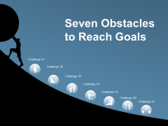 Seven Obstacles To Reach Goals Ppt PowerPoint Presentation Show Visuals