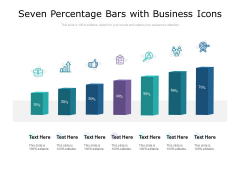 Seven Percentage Bars With Business Icons Ppt PowerPoint Presentation Infographics Example Topics