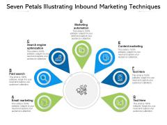Seven Petals Illustrating Inbound Marketing Techniques Ppt PowerPoint Presentation Inspiration Samples PDF