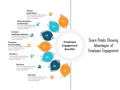 Seven Petals Showing Advantages Of Employee Engagement Ppt PowerPoint Presentation File Inspiration PDF