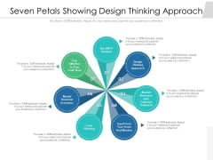 Seven Petals Showing Design Thinking Approach Ppt PowerPoint Presentation Professional Example Topics PDF