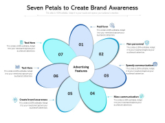 Seven Petals To Create Brand Awareness Ppt PowerPoint Presentation Summary Templates PDF