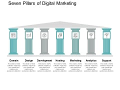 Seven Pillars Of Digital Marketing Ppt PowerPoint Presentation Gallery Icon