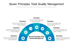 Seven Principles Total Quality Management Ppt PowerPoint Presentation Summary Guidelines Cpb