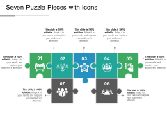 Seven Puzzle Pieces With Icons Ppt PowerPoint Presentation Model Design Inspiration