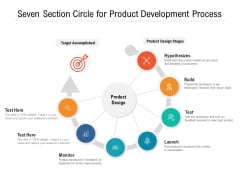 Seven Section Circle For Product Development Process Ppt PowerPoint Presentation Icon Background Images PDF