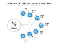 Seven Sections Circle For SCM Process With Icons Ppt PowerPoint Presentation Gallery Aids PDF