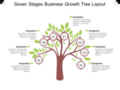 Seven Stages Business Growth Tree Layout Ppt PowerPoint Presentation Professional Rules