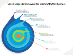 Seven Stages Circle Layout For Creating Digital Business Ppt PowerPoint Presentation Layouts PDF