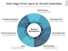 Seven Stages Circle Layout For Growth Sustainablity Ppt PowerPoint Presentation Outline Files PDF