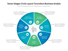 Seven Stages Circle Layout Toconduct Business Analyis Ppt PowerPoint Presentation Gallery Objects PDF