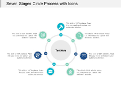 Seven Stages Circle Process With Icons Ppt PowerPoint Presentation Layouts Template