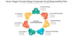 Seven Stages Circular Design Corporate Social Responsibility Plan Ppt PowerPoint Presentation Gallery Microsoft PDF