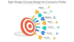 Seven Stages Circular Design For Company Profile Ppt PowerPoint Presentation File Structure PDF