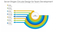 Seven Stages Circular Design For Team Development Ppt PowerPoint Presentation File Format PDF