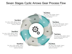 Seven Stages Cyclic Arrows Gear Process Flow Ppt Powerpoint Presentation Icon Deck