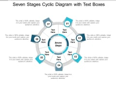 Seven Stages Cyclic Diagram With Text Boxes Ppt Powerpoint Presentation Infographic Template Gridlines