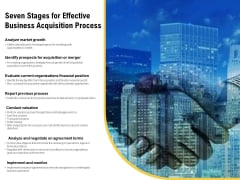 Seven Stages For Effective Business Acquisition Process Ppt PowerPoint Presentation Gallery Good PDF