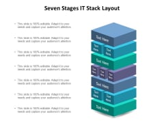 Seven Stages IT Stack Layout Ppt PowerPoint Presentation Slides Visual Aids PDF