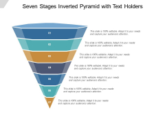 Seven Stages Inverted Pyramid With Text Holders Ppt PowerPoint Presentation Summary Gallery