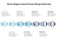 Seven Stages Linear Process Design With Icons Ppt PowerPoint Presentation File Graphics Example PDF