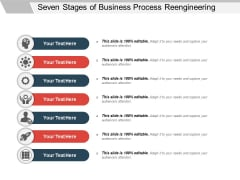 Seven Stages Of Business Process Reengineering Ppt PowerPoint Presentation Gallery Professional PDF