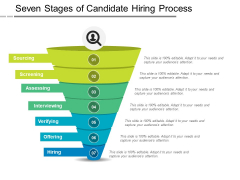 Seven Stages Of Candidate Hiring Process Ppt PowerPoint Presentation Pictures Images PDF