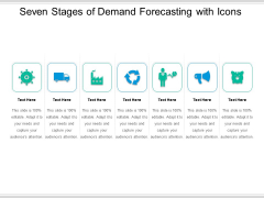 Seven Stages Of Demand Forecasting With Icons Ppt PowerPoint Presentation File Graphics PDF