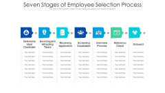 Seven Stages Of Employee Selection Process Ppt PowerPoint Presentation Gallery Designs PDF