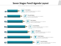 Seven Stages Pencil Agenda Layout Ppt PowerPoint Presentation Gallery Layout PDF