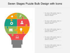 Seven Stages Puzzle Bulb Design With Icons Ppt PowerPoint Presentation Layouts Visuals