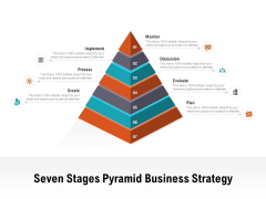 Seven Stages Pyramid Business Strategy Ppt PowerPoint Presentation Model Graphics Pictures PDF